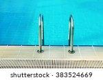 steps in blue water pool | Shutterstock . vector #383524669