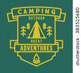 badge camping outdoor... | Shutterstock .eps vector #383525680