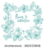 Beautiful Doodle Flower Set...