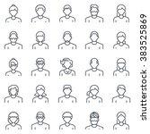employee  office people avatars ...   Shutterstock .eps vector #383525869