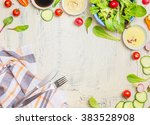 fresh seasonal organic...   Shutterstock . vector #383528908