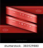 red vector infographics design. ...   Shutterstock .eps vector #383529880