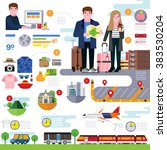 trip planner | Shutterstock .eps vector #383530204