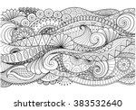 boho pattern for background ... | Shutterstock .eps vector #383532640