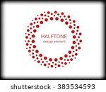 color abstract halftone logo... | Shutterstock .eps vector #383534593