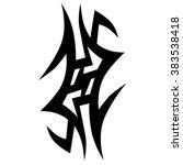 tattoos. stencil. patterns.... | Shutterstock .eps vector #383538418