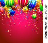 birthday card with colorful... | Shutterstock .eps vector #383540209
