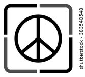 peace sign    black vector icon | Shutterstock .eps vector #383540548