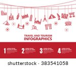travel infographics  landmark... | Shutterstock .eps vector #383541058