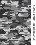 vector camouflage pattern | Shutterstock .eps vector #383544349