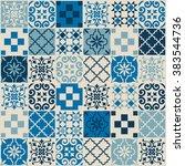 vintage tile pattern. vector... | Shutterstock .eps vector #383544736