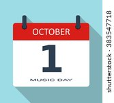 1 october. music day. vector...