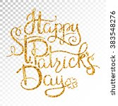 st. patricks day greetings.... | Shutterstock .eps vector #383548276
