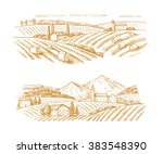 vector hand drawn image of... | Shutterstock .eps vector #383548390