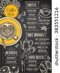 coffee restaurant brochure... | Shutterstock .eps vector #383551216