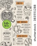 coffee restaurant brochure... | Shutterstock .eps vector #383551288