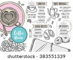 coffee restaurant brochure... | Shutterstock .eps vector #383551339