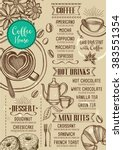 coffee restaurant brochure... | Shutterstock .eps vector #383551354