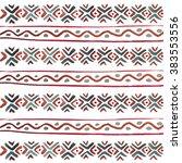 watercolor tribal  elements.... | Shutterstock . vector #383553556