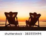 enjoy life concept  couple... | Shutterstock . vector #383555494