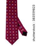dark red silk necktie | Shutterstock . vector #383559823