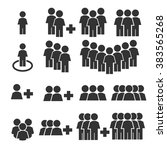 team work  crowd icon set | Shutterstock .eps vector #383565268