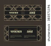 Set Of Two Gift Vouchers In Art ...