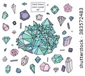 crystal diamond color set | Shutterstock .eps vector #383572483