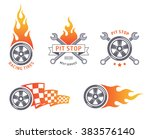 colored racing tires and... | Shutterstock .eps vector #383576140