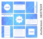 blue set of brochure. square... | Shutterstock .eps vector #383578249