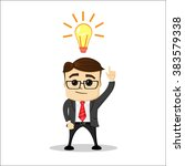 manager character  thinking and ... | Shutterstock .eps vector #383579338