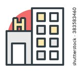 hospital vector icon | Shutterstock .eps vector #383583460