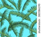 tropical leaves  dense jungle.... | Shutterstock .eps vector #383586190
