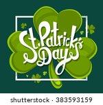 vector illustration of st.... | Shutterstock .eps vector #383593159
