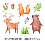 Abstract Cute Animals  Woodlan...