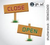 icon open and close vector... | Shutterstock .eps vector #383602600