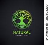 Vector Circle Eco Logo  Tree...