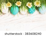 easter eggs with green grass | Shutterstock . vector #383608240