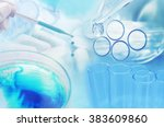 medicine research at science... | Shutterstock . vector #383609860