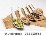ingredients for beer  selective ... | Shutterstock . vector #383610568