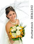 beautiful bride portrait | Shutterstock . vector #38361343