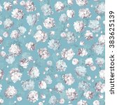 vintage floral seamless pattern ... | Shutterstock .eps vector #383625139