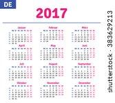 german calendar 2017 ... | Shutterstock .eps vector #383629213