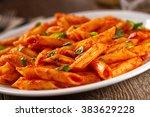 pasta with tomato sauce | Shutterstock . vector #383629228