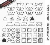 vector illustration of landry... | Shutterstock .eps vector #383631328