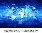 world map business background | Shutterstock . vector #383635129