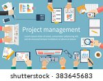project management concept.... | Shutterstock .eps vector #383645683