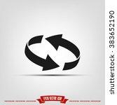 rotation arrows icon vector... | Shutterstock .eps vector #383652190