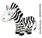 Cartoon Zebra Vector...