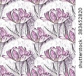 seamless pattern with beautiful ... | Shutterstock . vector #383652820